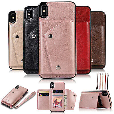 Leather Flip Wallet Card Holder Case Cover For iPhone 11 XS Max XR X 8 7 6Plus
