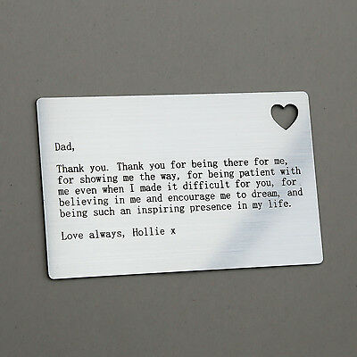 Personalised Wallet Card Insert Xmas Gift Dad Daddy Christmas Present Idea ()