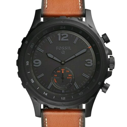 New Fossil Q Gen 2 Nate Hybrid Smartwatch 50mm Stainless Steel Black