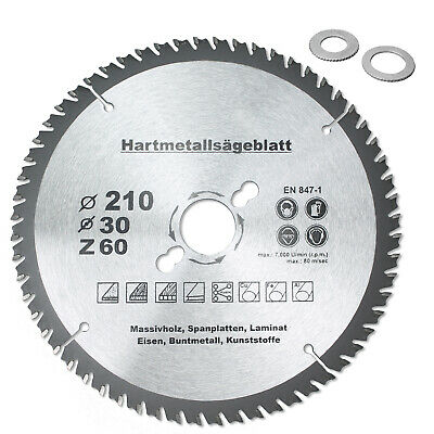 Kreissägeblatt HM Ø 210 x 30 mm, 60 Z