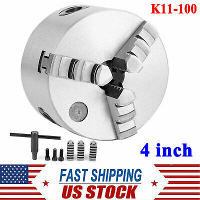K11-100 4 Inch 3-jaw Precision Self Centering Lathe Chuck Us Stock