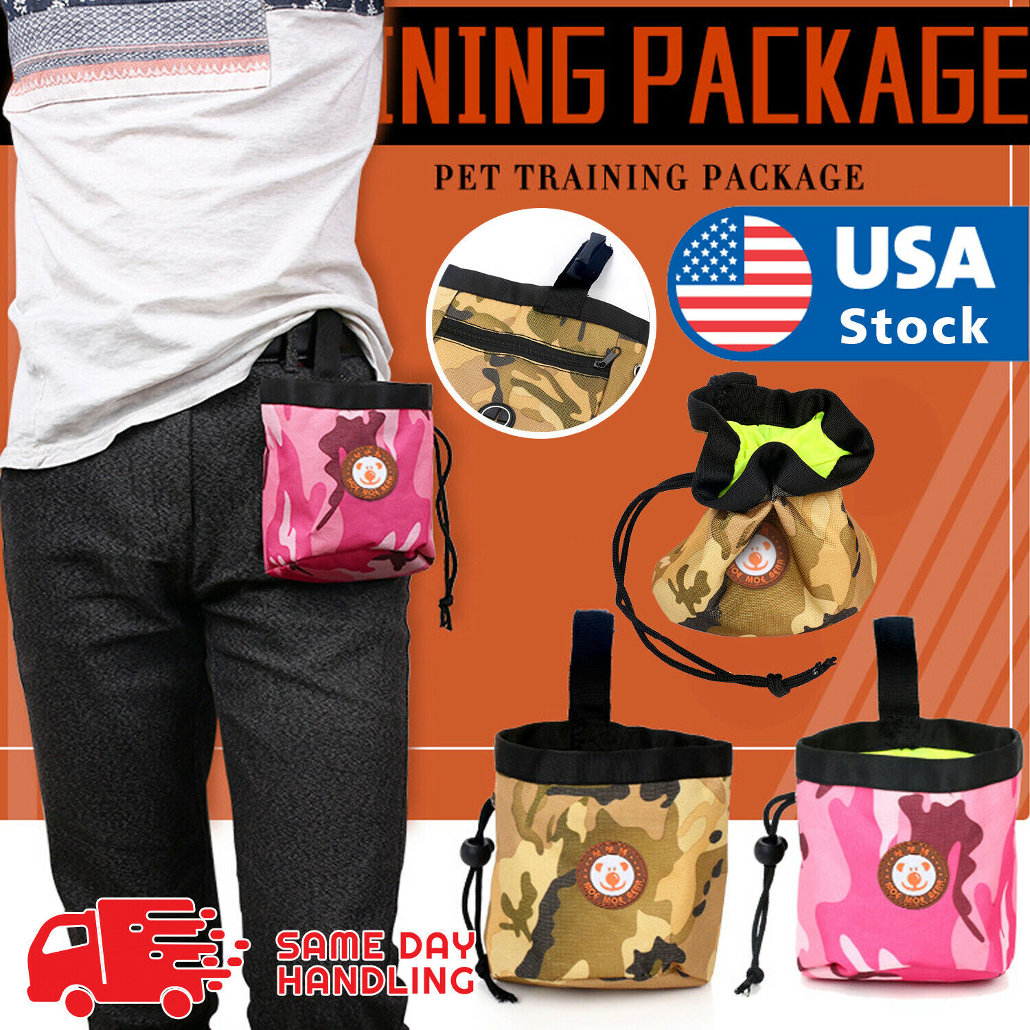 Pet Dog Puppy Obedience Training Treat Bag Feed Bait Food Snack Pouch Belt Bags Dog Supplies