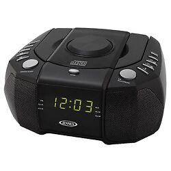 Jensen Jcr310 Top Loading Am/fm Pll Stereo Cd Dual Alarm Clock Radio With 0.6-i
