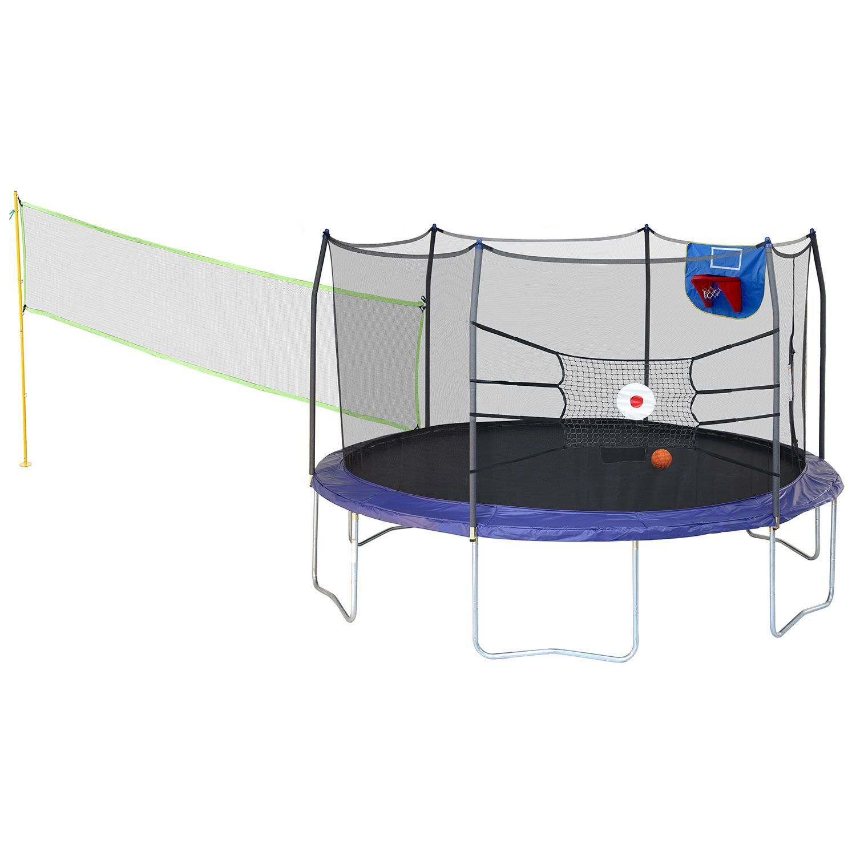 Trampolines 15' Round Sports Arena Trampoline w/ enclosure a