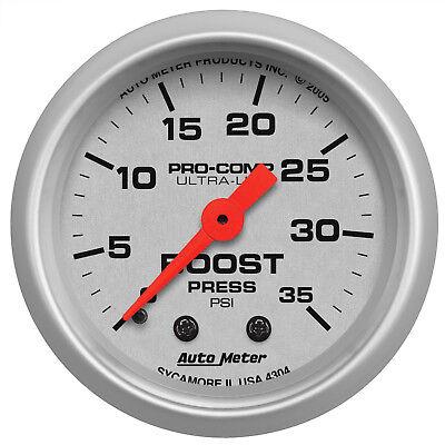 Autometer 4304 Ultra-Lite Boost Pressure Gauge 2-1/16 in., Mechanical