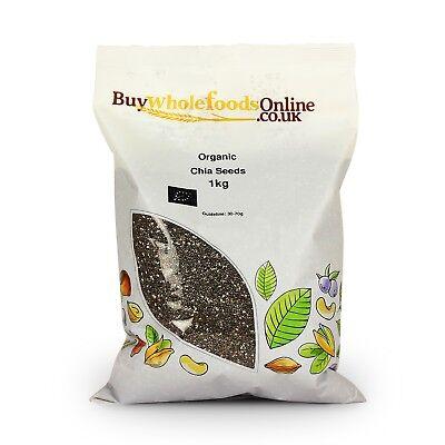 Organic Chia Seeds 1kg | Buy Whole Foods Online | Free UK Mainland P&P