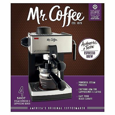 Mr Coffee Espresso Not counting Machine 4 Cup Steam Espresso Cappuccino Maker