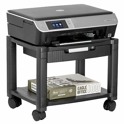 Halter Lz-306a Mini Rolling Printer Cart Machine Stand With Cable Management