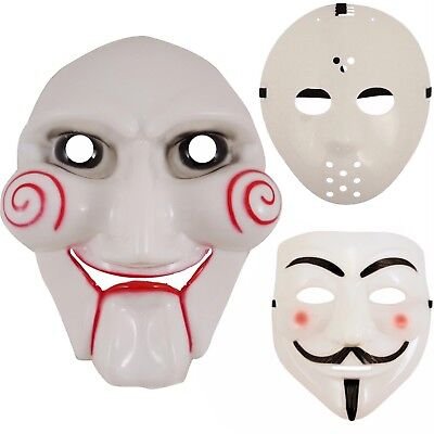 NEW HALLOWEEN JIGSAW, HOCKEY, VENDETTA SCARY MASKS FANCY DRESS ACCESSORY - Jigsaw Maske Kostüm