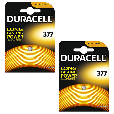 2 x Duracell 377 1.5v Silver Oxide Watch Battery Batteries SR626SW AG4 626 D377 377 Silver Oxide Watch Battery