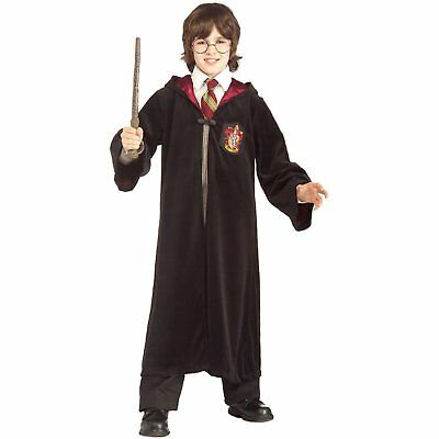 HARRY POTTER HALLOWEEN COSTUME ROBE WITH HOODIE EMBLEM SCARF GLASSES CHILD  - Harry Potter Halloween Scarf