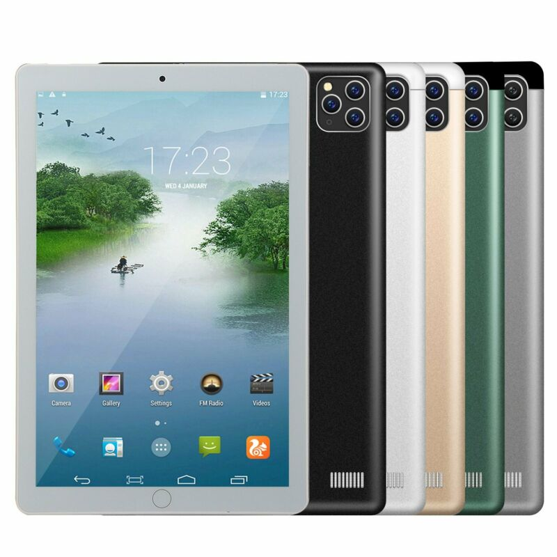 """2021 10.1 """"WiFi Tablet Android8.1 Pad 8/10G+512GB 10 Core Tablet GPS Dual Camera"""