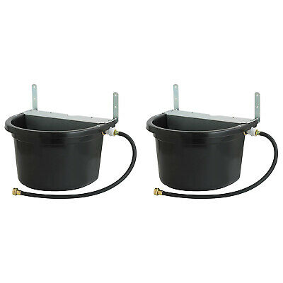 Little Giant 4 Gal. Float Controlled Waterer Livestock Water Trough 2 Pack