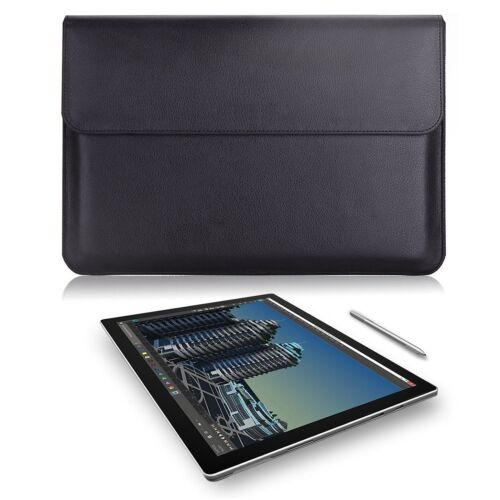 Surface Pro 4 / 3 Sleeve Bag Leather Computer Carrying Wallet Case Non Slip New