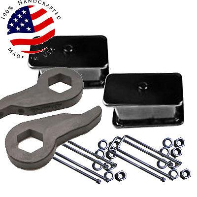 """D Lift  2000-10 Chevy 2500 3500 HD Forged Torsion Keys & 2"""" Cast Steel Blocks"""