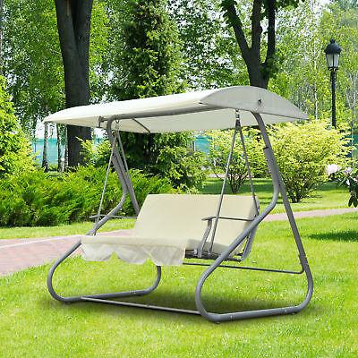 Hollywoodschaukel Schaukelbank Gartenschaukel Schaukel 3-Sitzer Metall