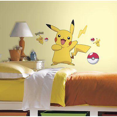 RoomMates RMK2536GM Pokemon Pikachu Peel and Stick Wall Deca