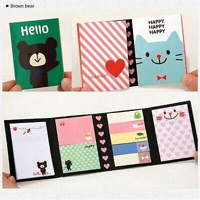 Sticky Notes Animals Memo Pads Kawaii Stationery Writings Office School Supplies