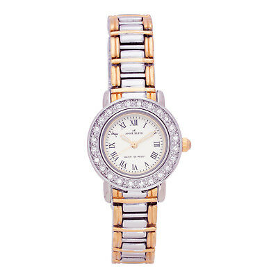 New Anne Klein 10-9255INST Women's Two-tone Gold Silver Metal Bracelet Watch