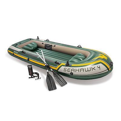 Intex 68351 Schlauchboot Seahawk 4 Ruderboot Set Angelboot +Pumpe Paddel
