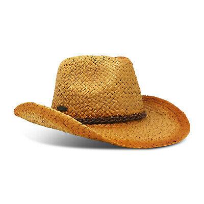 Panama Jack Drifter Cowboy Hat - Lightweight, Western Toyo Straw, Woven Hat