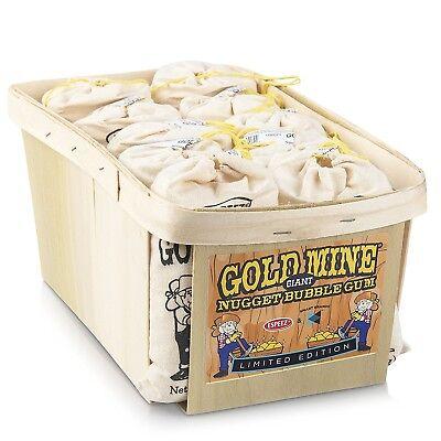 Espeez Old Fashioned Bubble Gum:  Gold Mine Nugget Gum - 12 Giant Bags - Gold Nugget Gum