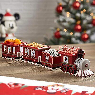Disney - Mickey Mouse - Christmas Holiday Train Bowl Set - Ceramic - BRAND NEW!