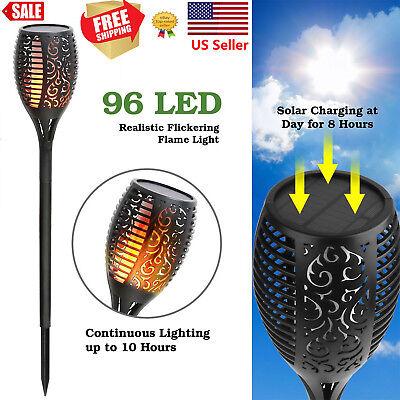 1 or 2Pack 96LED Waterproof Solar Tiki Torch Light Dancing Flickering Flame Lamp](Led Tiki Torch)