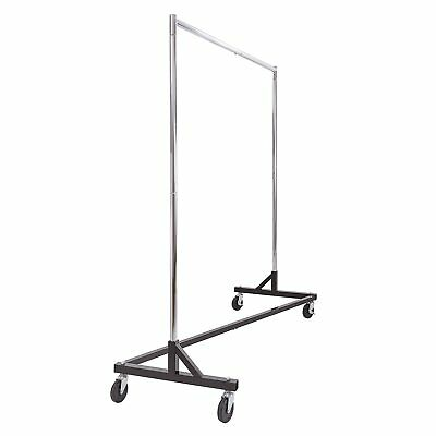 Commercial Garment Rack Z Rack - Rolling Clothes Rack Z Rack With Kd