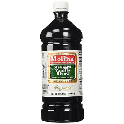 Vanilla Extract Pure Real Mexican Molina Best 33.3 Oz / 1000