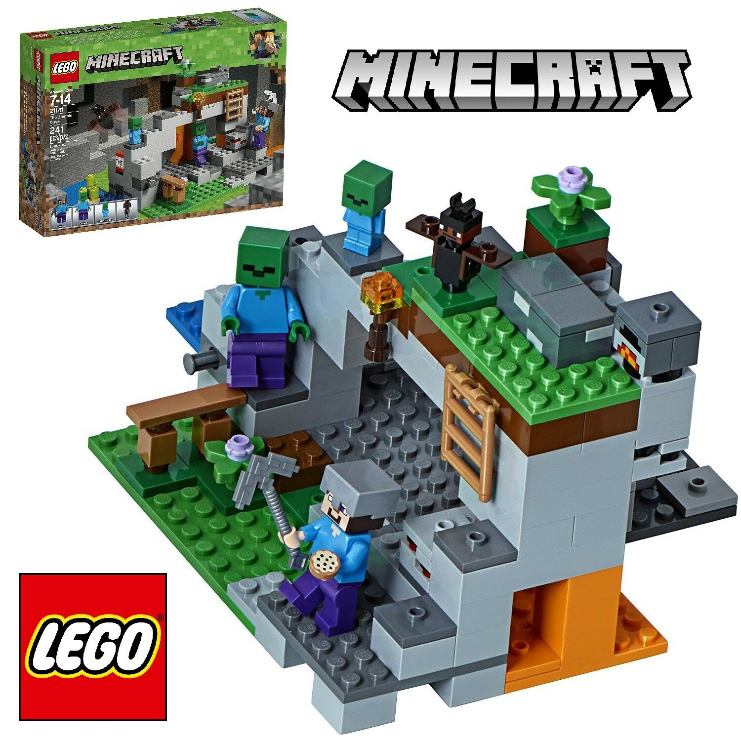 LEGO MINECRAFT The Zombie Cave Kids Christmas Gift Boys 241