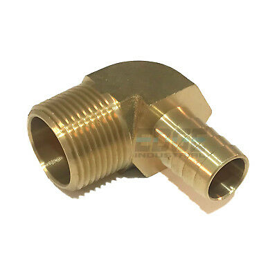 58 Hose Barb Elbow X 34 Male Npt Brass Pipe Fitting Thread Gas Fuel Water Air