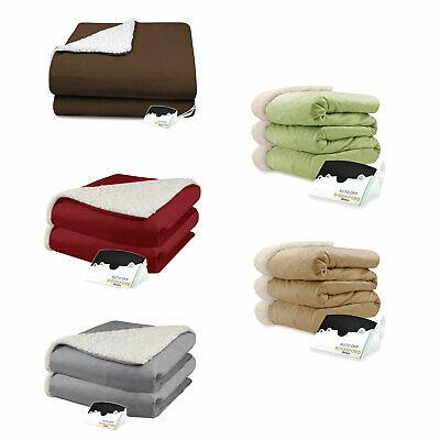 Biddeford Micro Mink and Sherpa Electric Heated Blanket Asso