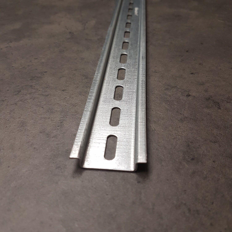 5 Stk 2 m Hutschiene gelocht 35 x 7,5 mm verzinkt tragschiene normale Ausführung
