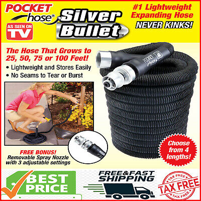 Pocket Hose Silver Bullet Expandable Water Hose As Seen On TV - -