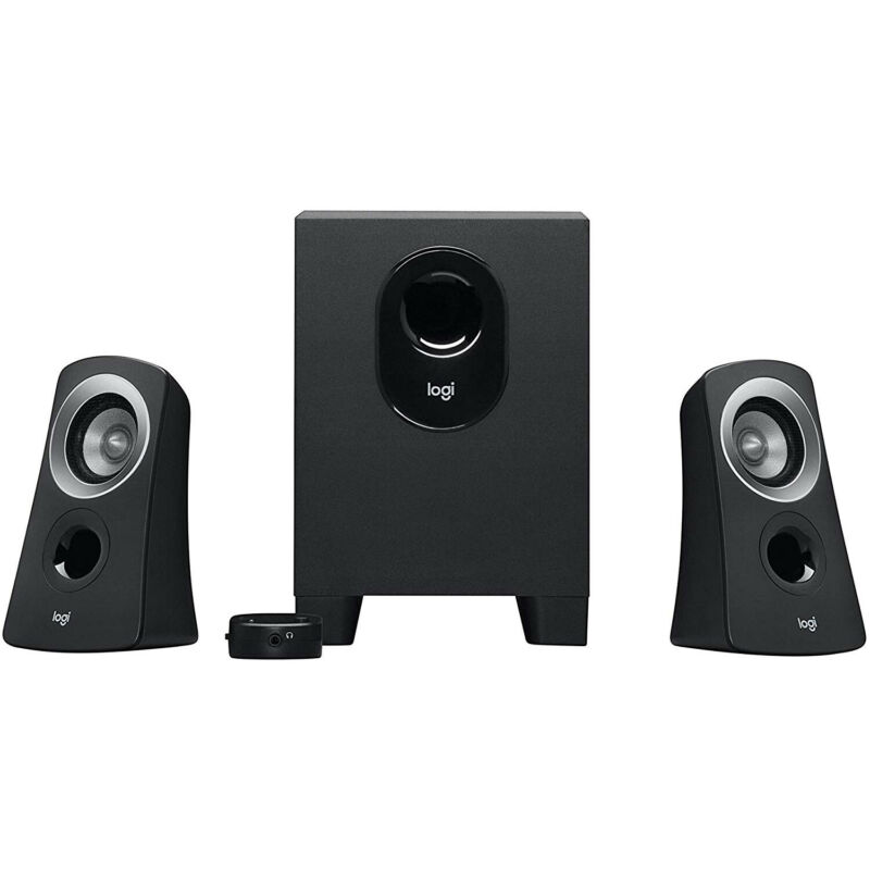 Logitech  Z313 980-000382 2.1-Channel Speaker System (3-Piece) - Black/Silver