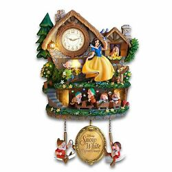 Disney SNOW WHITE Hidden Treasure Cuckoo Clock Lights, Sound, Motion! NEW