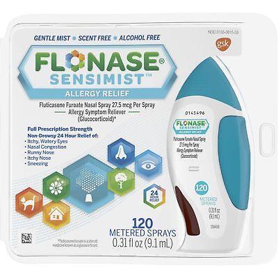 Flonase   Sensimist Allergy Relief   120 Metered Sprays Exp  08 2019  09 2019