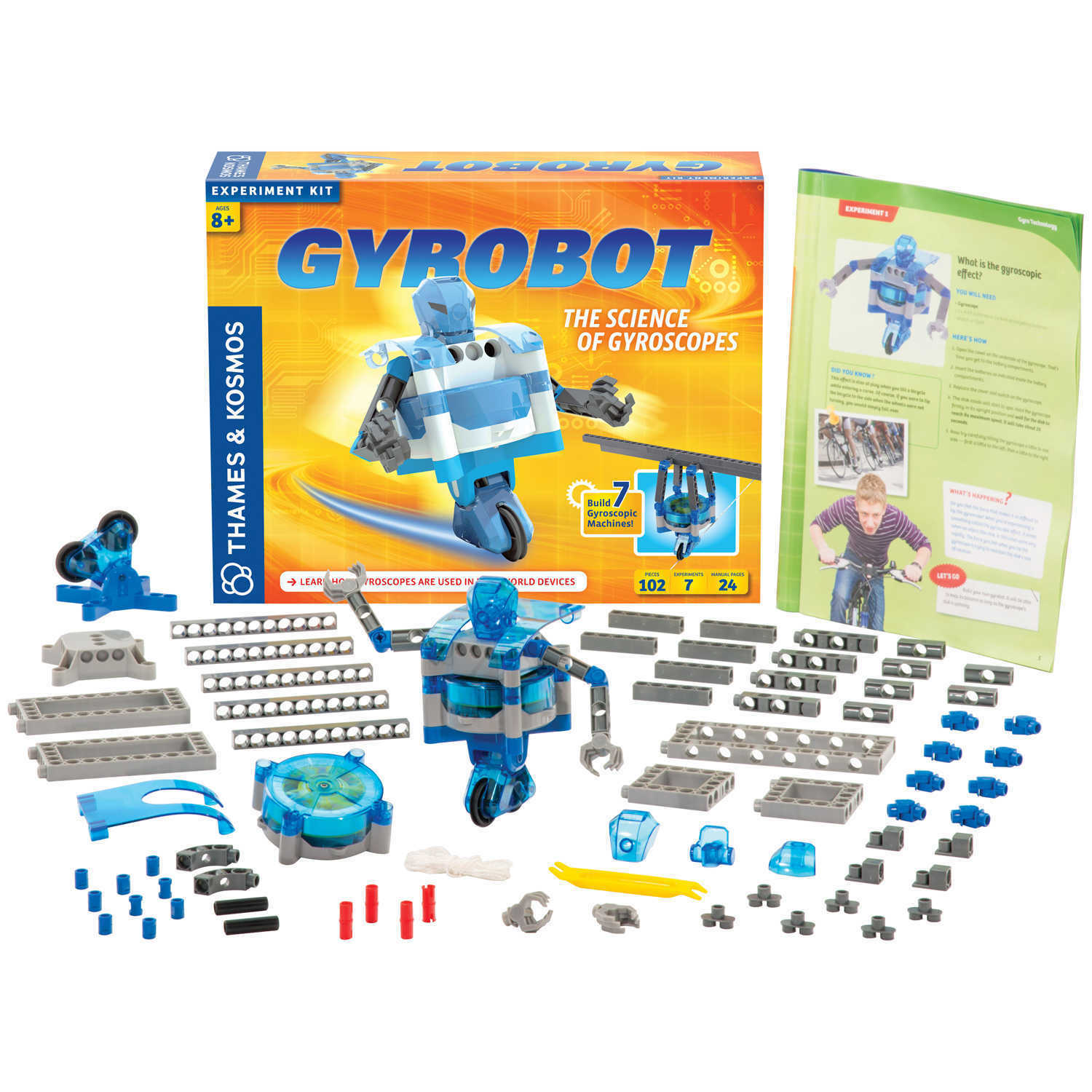 Thames Kosmos Gyrobot Science Of Gyroscopes 7 Experiments Robot Home Products Kits Snap Circuits Green Stock Photo