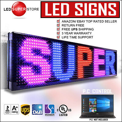 Led Super Store 3colrbppc 12x60 Programmable Scrolling Emc Display Msg Sign