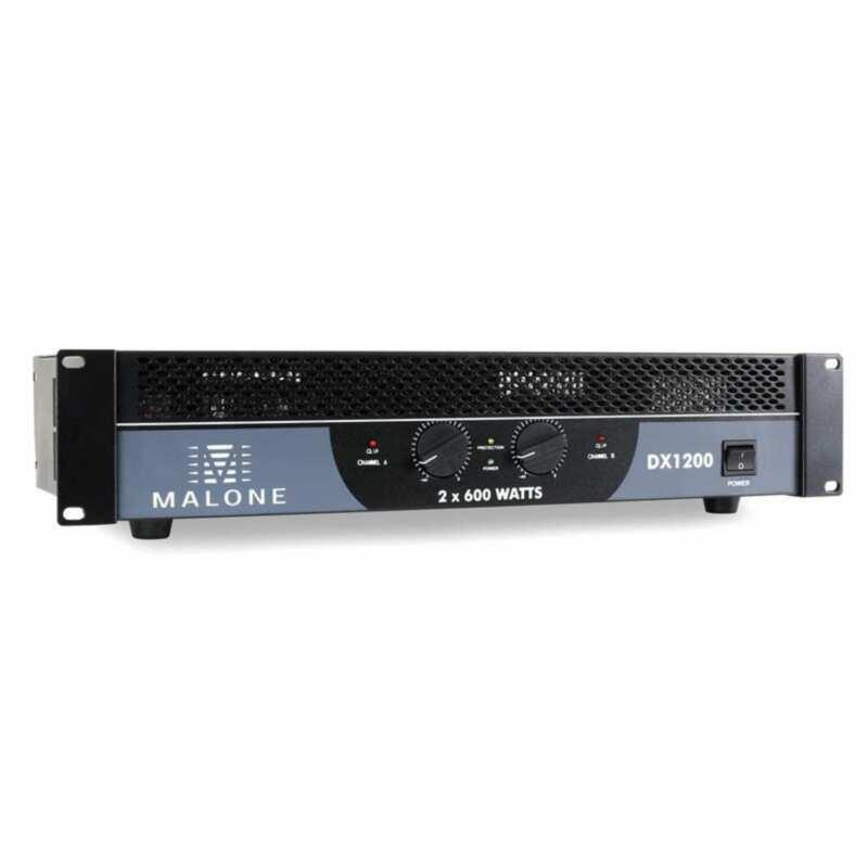 NEW MALONE DX1200 POWER AMPLIFIER DJ DISCO STAGE PA SOUND SYSTEM 1200W AMP