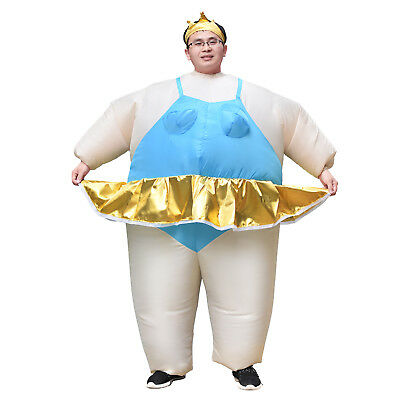 Ballerina Costume Adult Inflatable Blow Up Suit Party Fancy Dress Cosplay Outfit