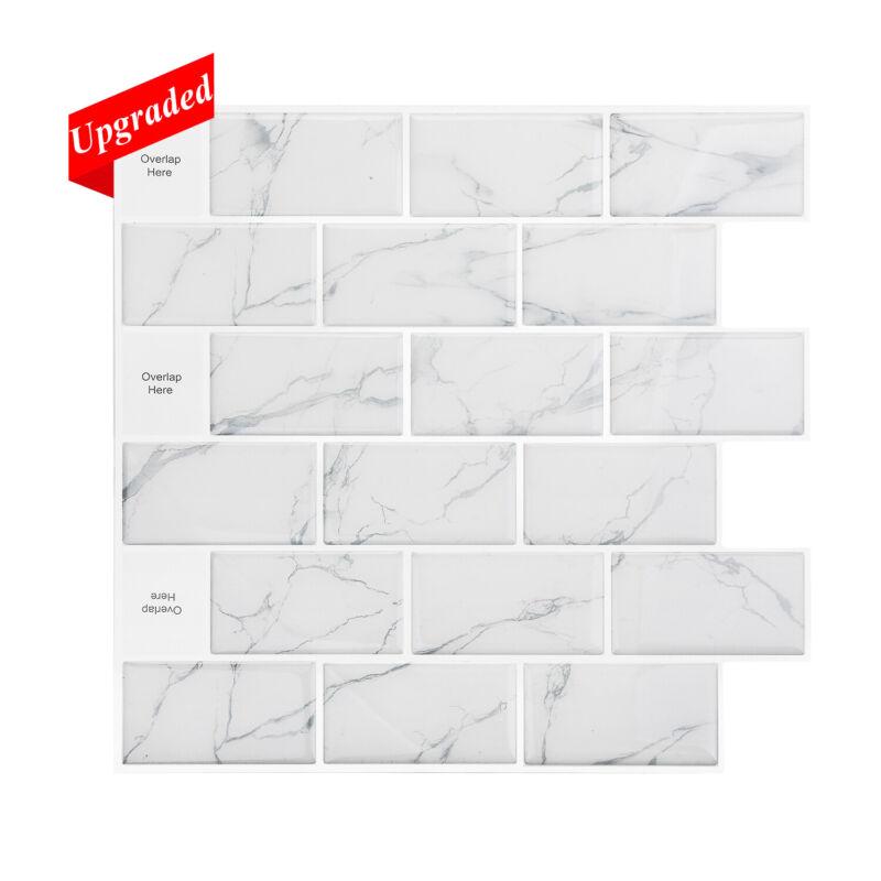 "5pc/10pc 12""x12"" Peel and Stick Backsplash Tile 3D Wall Vinyl Tiles Kitchen Wall"