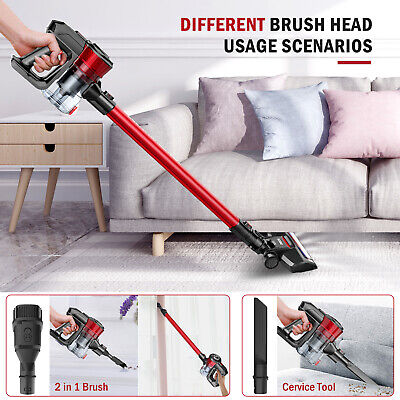 ONSON D18E 12000Pa Cordless Handheld Stick Vacuum Cleaner LED 2 IN 1 Brush