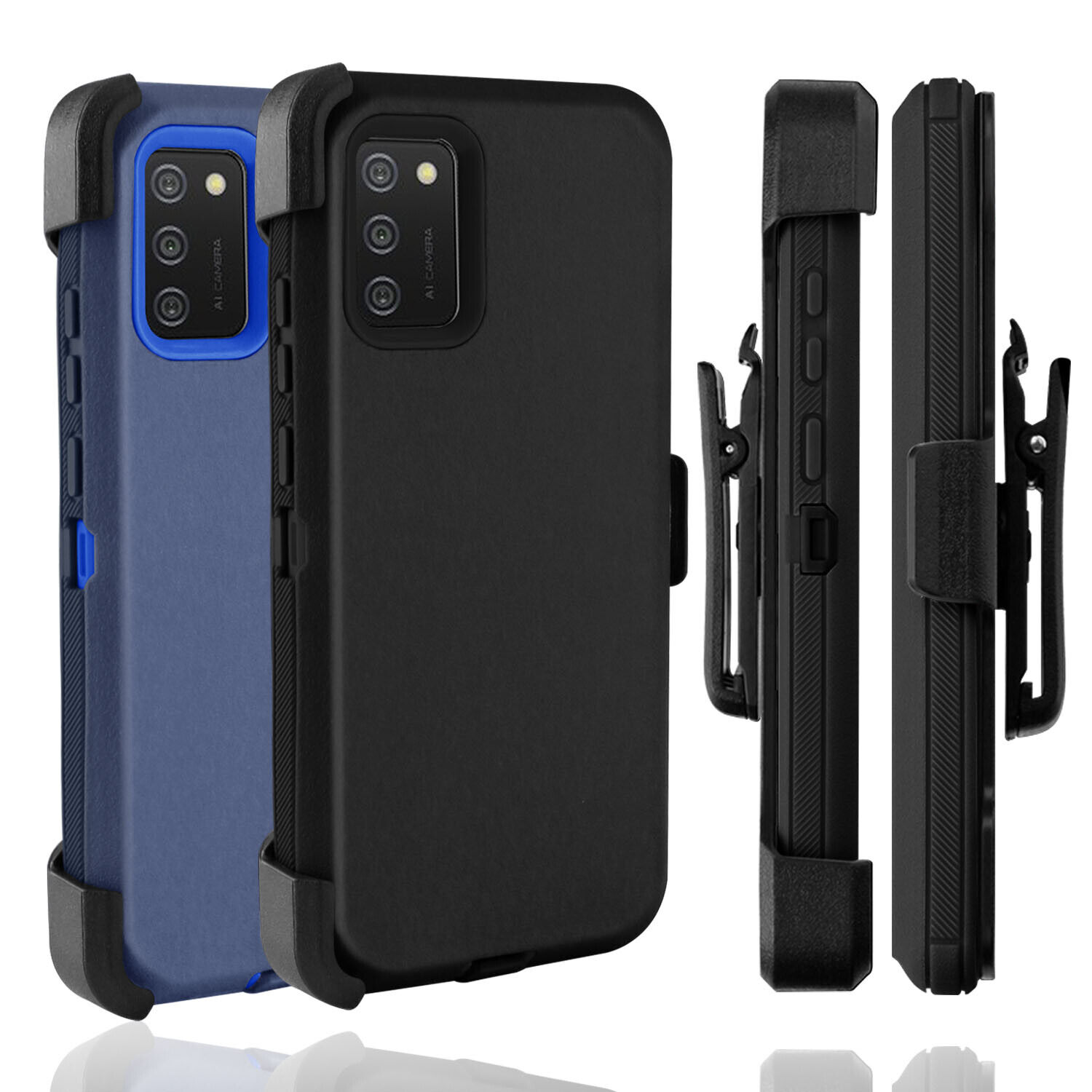 For Samsung Galaxy A02S Case Holster Belt Clip Stand Shockproof Cover Heavy Duty Cases, Covers & Skins