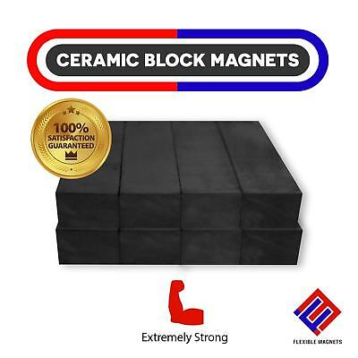 Ceramic Block Magnets Heavy Duty Strong Bar Ferrite Rectangular Square Magnets