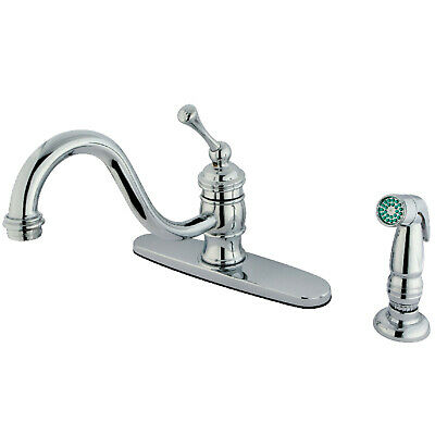 "Kingston Brass KB3571BLSP 8"" Centerset Kitchen Faucet,Polished Chrome,Chrome"