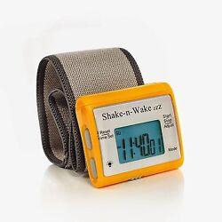 Shake N Wake Clock Silent Vibrating Personal Alarm Digital LED Clock Orange