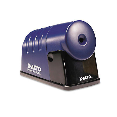 X-acto Powerhouse Desktop Electric Pencil Sharpener Translucent Blue 1792