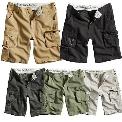 Surplus Trooper Vintage Shorts Bermuda kurze Hose Cargo Chino Beach Short ARMY Surplus Chino Hose